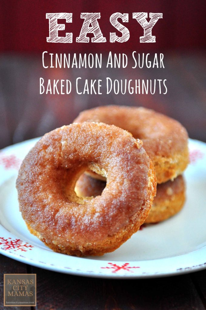 Easy Baked Cinnamon and Sugar Cake Doughnuts Recipe