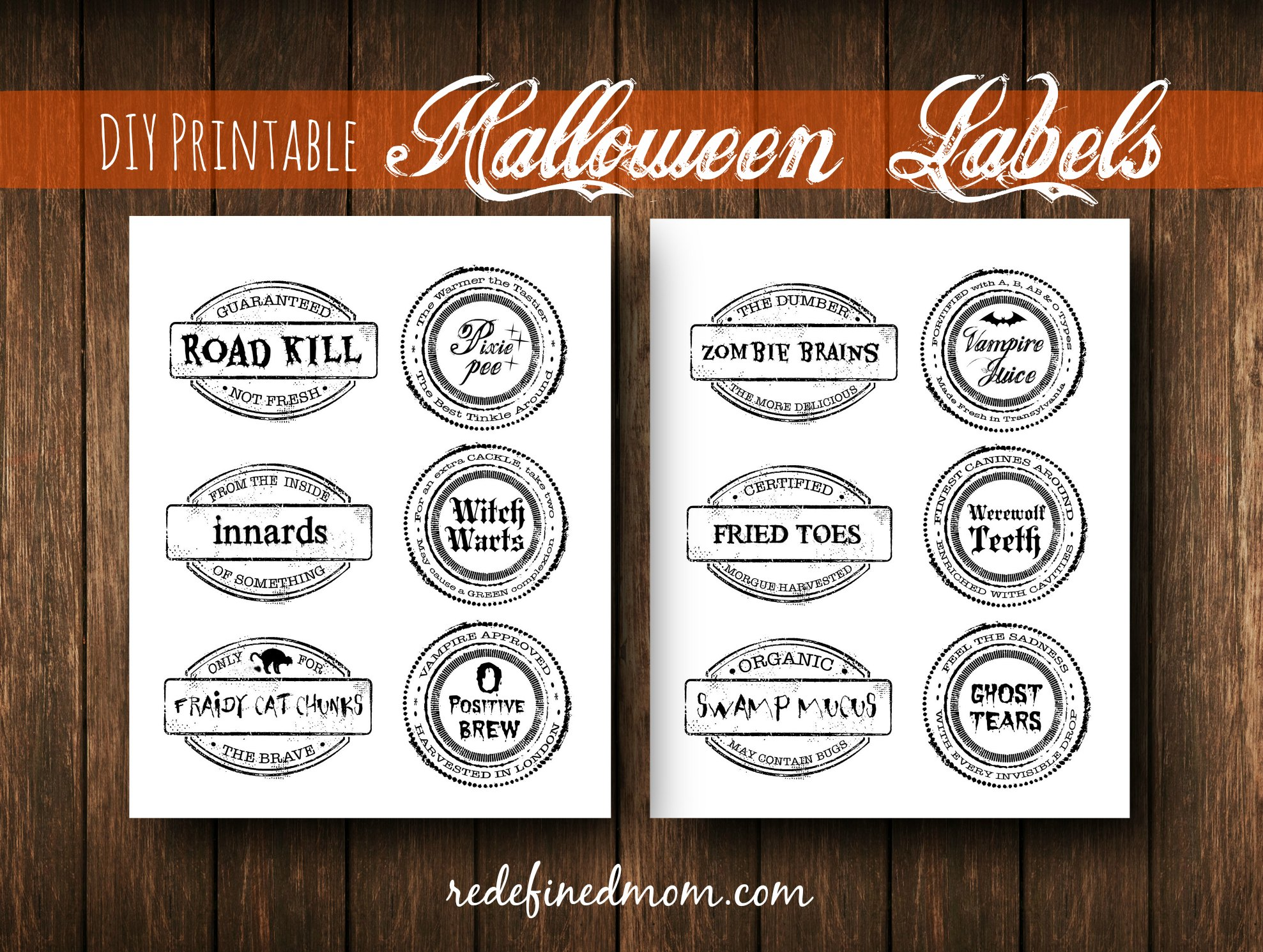 diy printable spooky halloween labels cover - Halloween Name Ideas