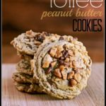 Um, Peanut Butter. Check. Toffee. Check. Soft Cookie that melts in your mouth? Check. I guarantee there will be no one who can resist having one (or five) of these Peanut Butter Toffee Cookies.