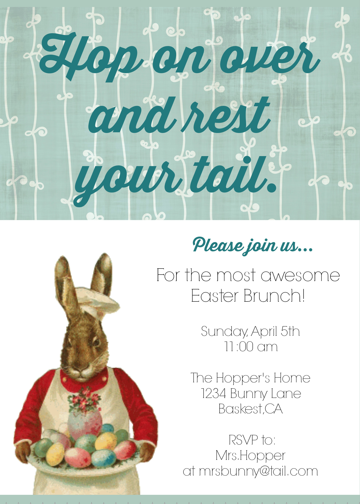 Diy printable easter brunch invite with this clever diy printable easter brunch invite you are guaranteed to have a full house stopboris Image collections