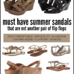It's time for sandals! Looking to move past flip flops! Here are Must Have Sandals for Mom - That Are Not Flip Flops that are comfortable, affordable and stylish.