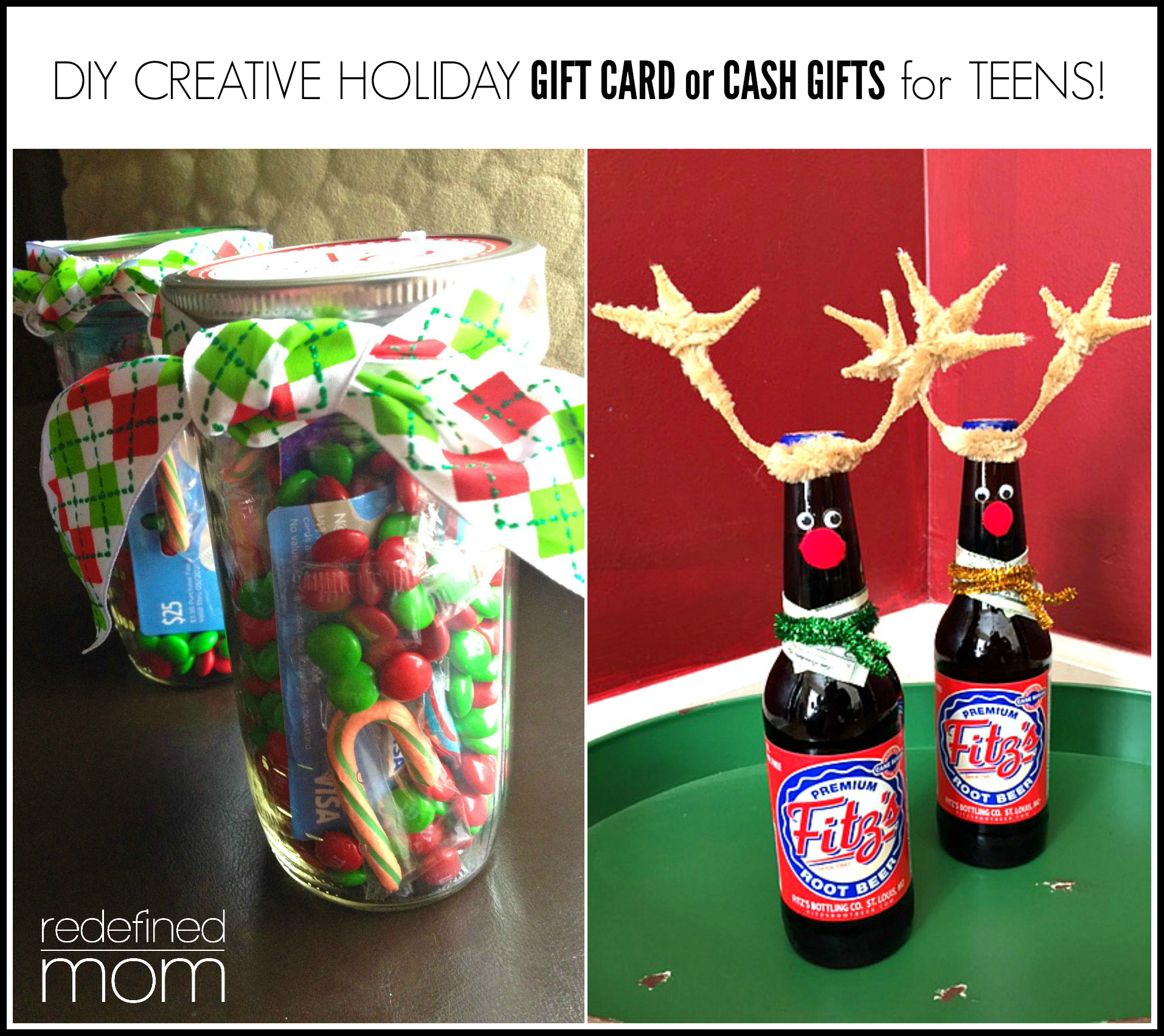 Diy creative holiday gift card or cash gifts for teens for Creative christmas ideas