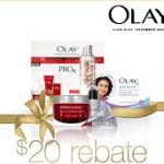 Olay Rebate: Buy $50, Get $20