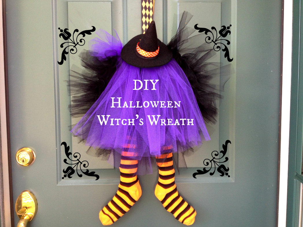 Image result for DIY Halloween Witch Wreath