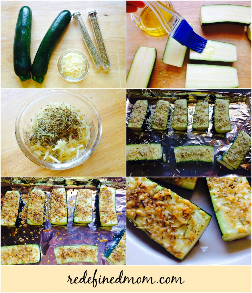 Easy Parmesan Herbed Baked Zucchini Collage 2