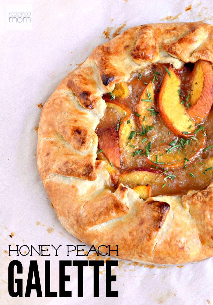 This Peach Galette recipe is the perfection of summer. Fresh, sweet peaches and flaky crust with just a hint of sweet honey. Serve with vanilla greek yogurt to make it more heavenly.
