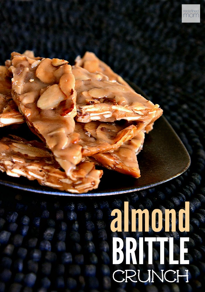 This super fast and easy Almond Brittle Crunch Recipe uses only four ingredients and can be made in less than 10 minutes. Pretty soon you will be saying, Peanut-Who?