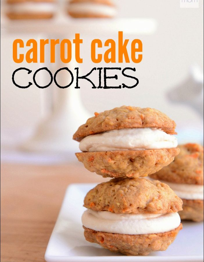 This Carrot Cake Cookie Recipe is a copycat from Walt Disney World - it's part cookie, part carrot cake, part cream cheese frosting, and part Little Debbie Oatmeal Cream Pie. And it is divine.