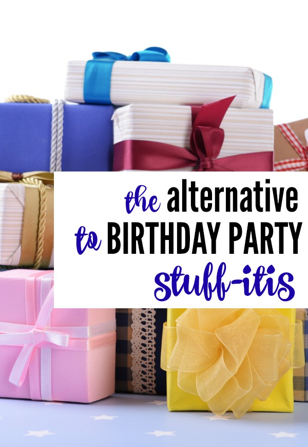 "Tired of all the STUFF? Here is an alternative to birthday party ""Stuff-itis"" that is fun and pays it forward. #CMHMoms"